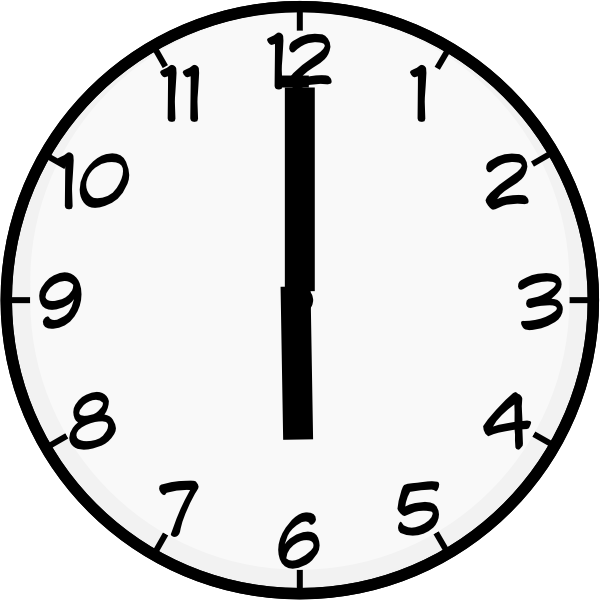 6 o clock clipart clipart transparent stock 6 O Clock Clip Art at Clker.com - vector clip art online, royalty ... clipart transparent stock