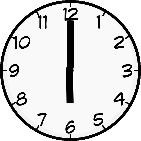 6 o clock clipart.  clip art at