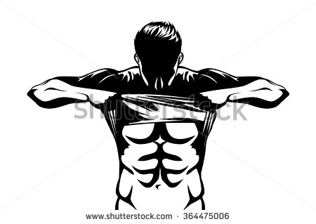 6 pack abs clipart - ClipartFox picture black and white