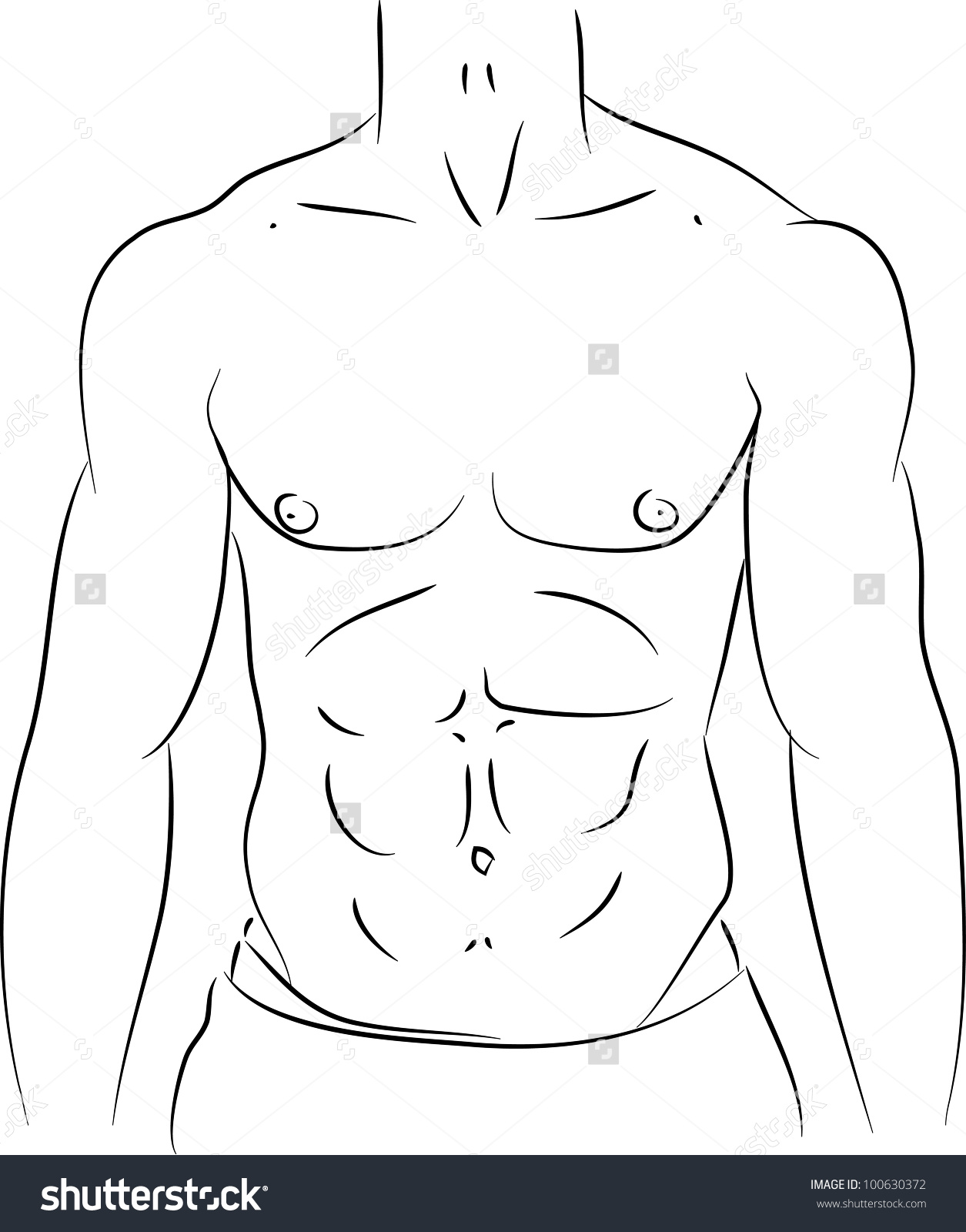 Six pack abs clipart - ClipartFest graphic stock