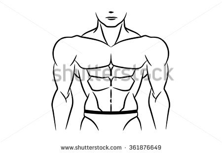 Six stock images royalty. 6 pack abs clipart