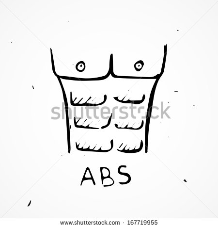 Vector six body free. 6 pack abs clipart
