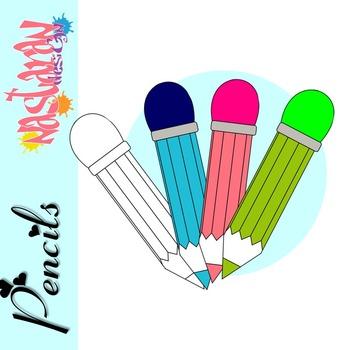 6 pencils clipart clip art free Pencils Clipart {Freebie} clip art free