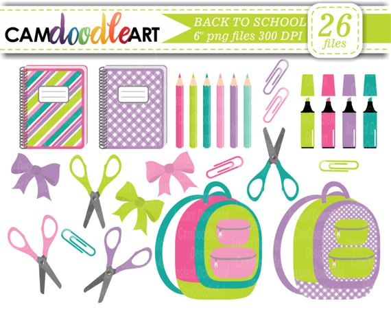 6 pencils clipart freeuse library Back To School Clipart Collection,Backpack Clipart,Notebook Clipart ... freeuse library