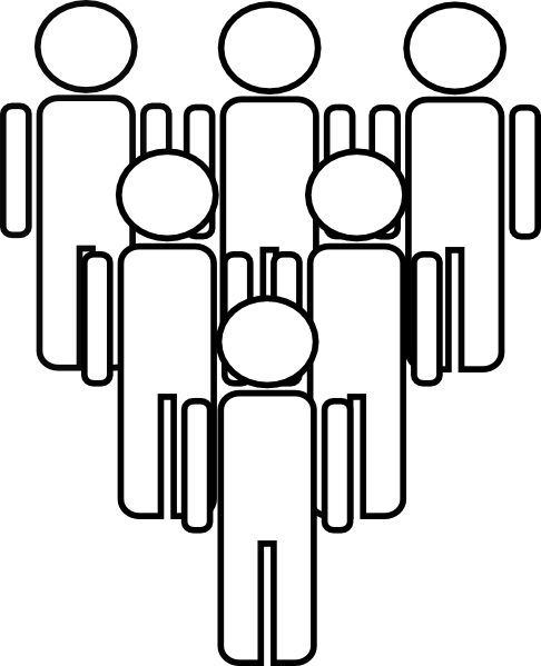 6 people clipart image black and white download Group Of People Clip Art at Clker.com - vector clip art online ... image black and white download