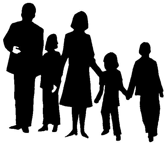 Clipart faimly image transparent stock Family clipart 6 people free images - ClipartBarn image transparent stock