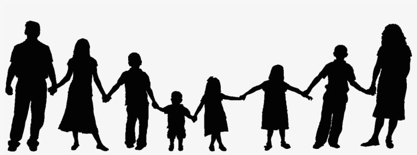 6 people clipart freeuse download Shadow Clipart Family 6 - People Holding Hands Clipart - 1298x419 ... freeuse download