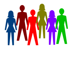 Clipart images of people vector royalty free library Colorful Group Of People Clip Art at Clker.com - vector clip art ... vector royalty free library