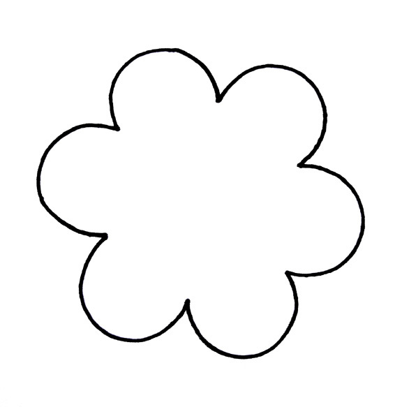 6 petal flower clipart.  clipartfest outline