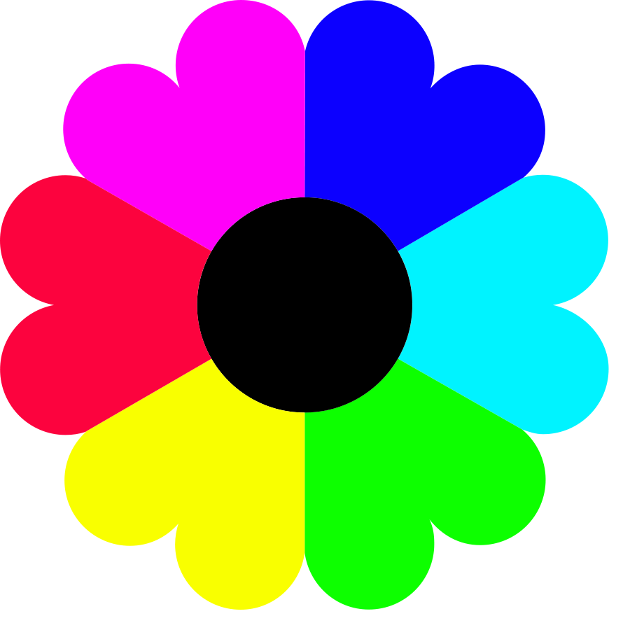 clipartfest colors. 6 petal flower clipart