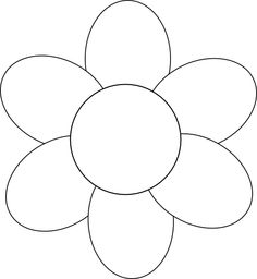 6 petal flower clipart png black and white 6 petal flower templates free - ClipartFest png black and white