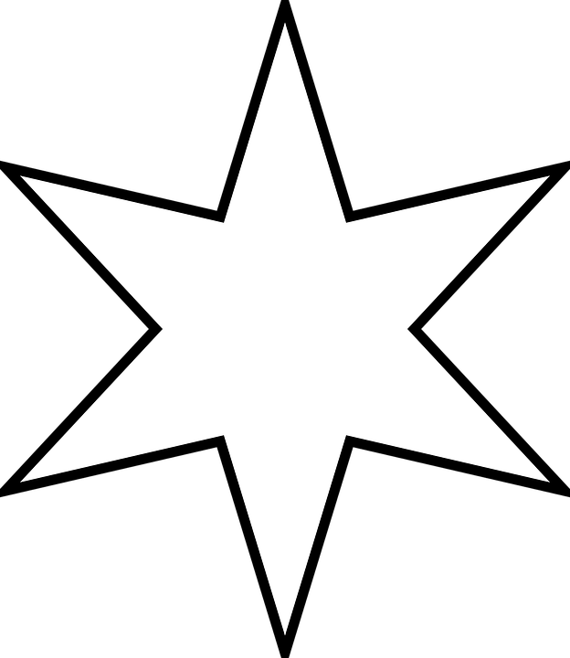 6 point star clipart clipart black and white star-six Gallery clipart black and white