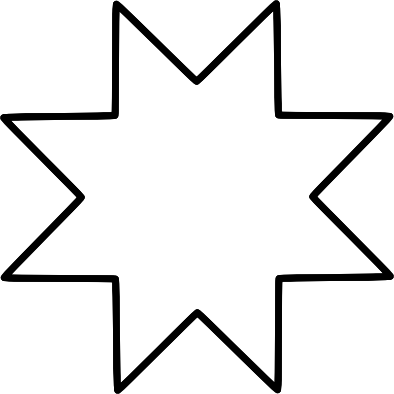 Eight pointed star clipart black and white stock Chrismons and Chrismon Patterns to Download -- Christmas Customs and ... black and white stock