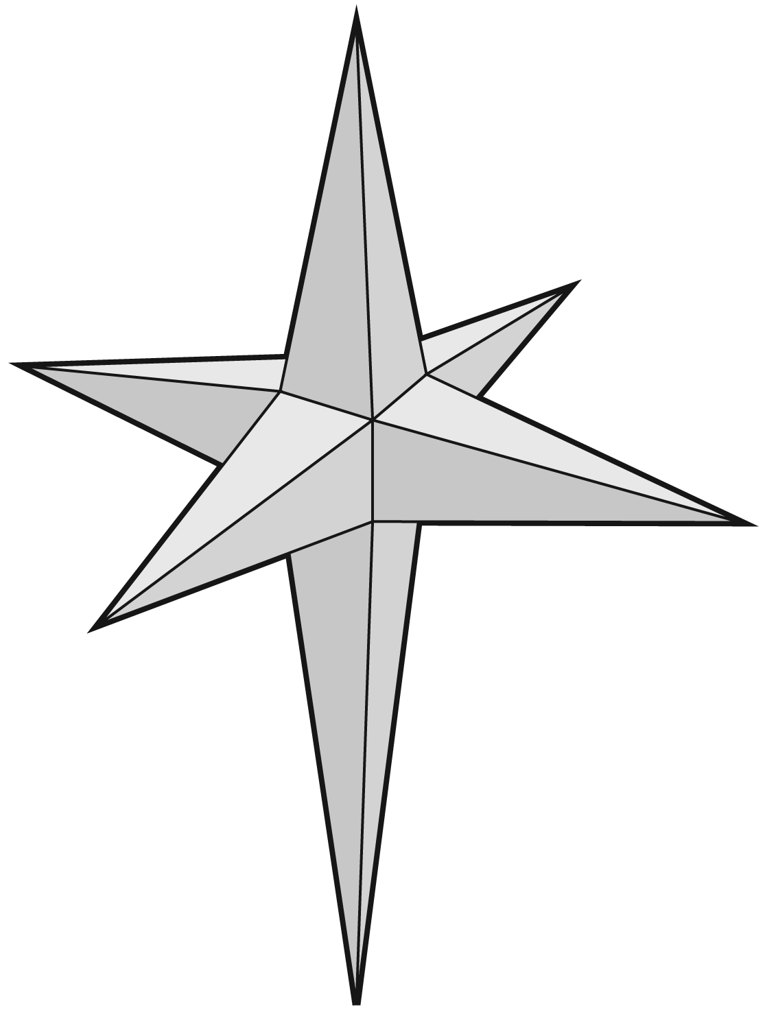 North star clipart black and white banner download 3d Star Drawing at GetDrawings.com | Free for personal use 3d Star ... banner download