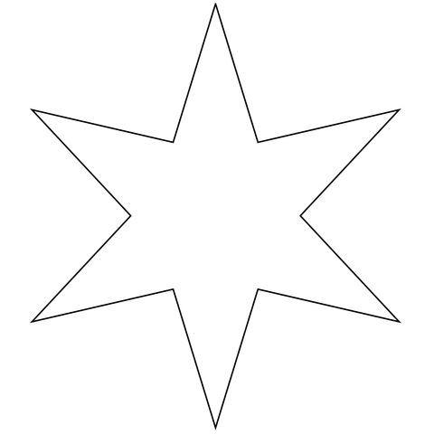 6 point star shape clipart jpg royalty free library Six Pointed Star coloring page | Free Printable Coloring Pages jpg royalty free library