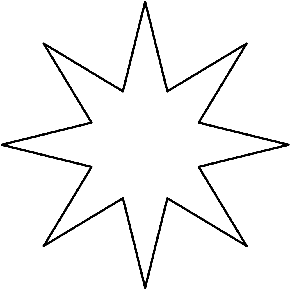 6 point star shape clipart png black and white download HD 8 Point Star Black Void - Eight Pointed Star Png , Free Unlimited ... png black and white download