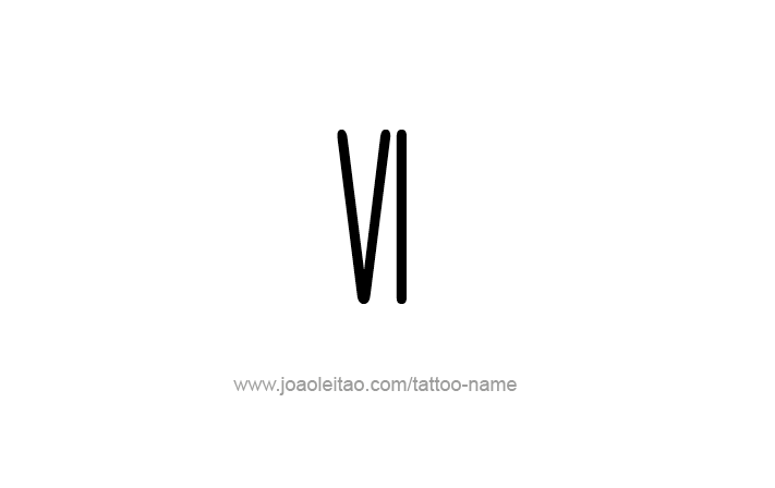 6 roman numeral clipart picture royalty free VI Roman Numeral Tattoo Designs | Tattoos | Roman numeral tattoos ... picture royalty free