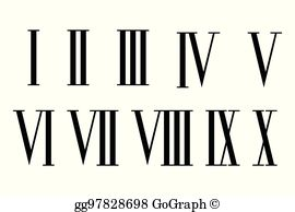 6 roman numeral clipart svg freeuse stock Roman Numerals Clip Art - Royalty Free - GoGraph svg freeuse stock