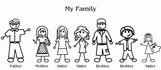 6 siblings clipart.  clipartfest family of
