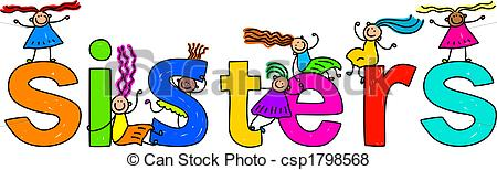 6 siblings clipart. Sister images and stock
