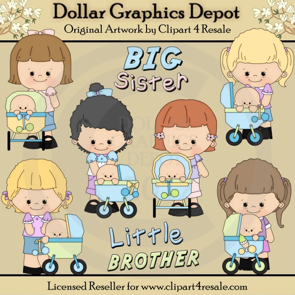 6 siblings clipart clip library stock 2 Sisters And Brother Clipart - Clipart Kid clip library stock