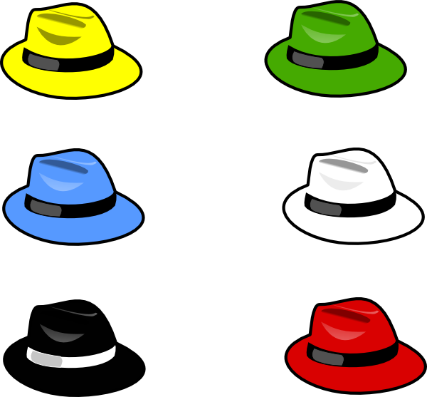 6 thinking hats clipart picture black and white download Clothing Hats Clip Art at Clker.com - vector clip art online ... picture black and white download