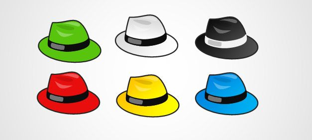 6 thinking hats clipart. Free six powerpoint template