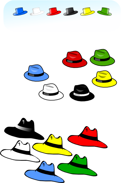 6 thinking hats clipart. Kattekrab six clip art