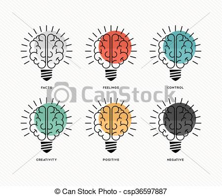 Six vector eps images. 6 thinking hats clipart