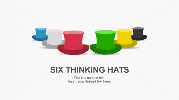 6 thinking hats clipart picture free stock Best Six Hat Thinking PowerPoint Templates picture free stock