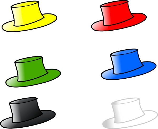 6 thinking hats clipart. Clothing six clip art
