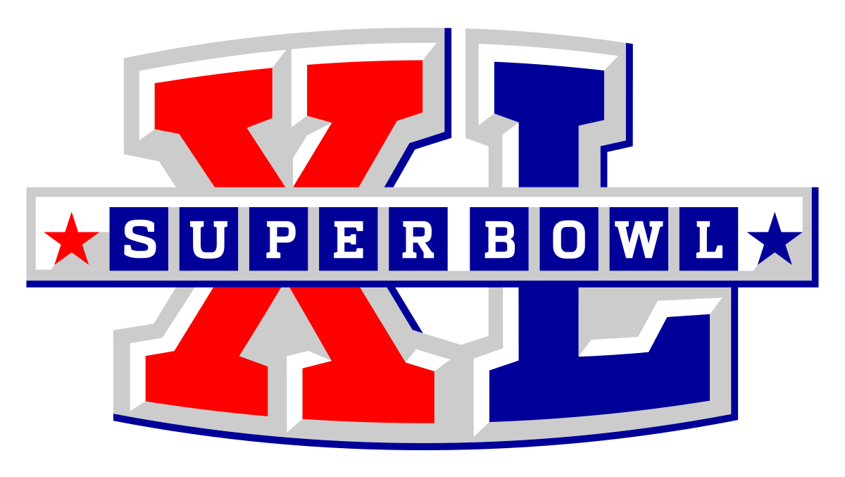 Super bowl 2014 clipart free black and white stock Super Bowl XL - Wikipedia black and white stock