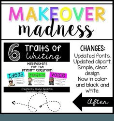 6 Traits of Writing Posters for Classroom Display - Quotes for ... image transparent