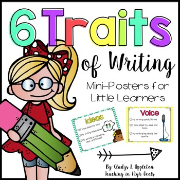 6 Traits of Writing by TeachingInHighHeels | Teachers Pay Teachers clip art freeuse