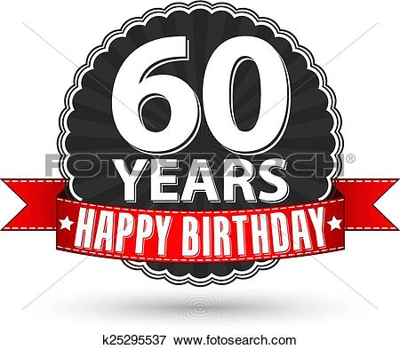 60th birthday Clip Art Illustrations. 186 60th birthday clipart ... png black and white stock