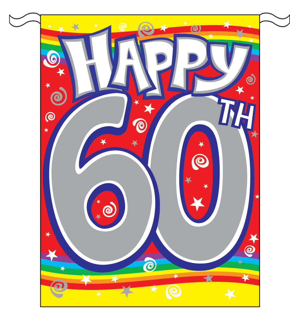 Free 60th birthday clip art - ClipartFest clipart black and white