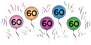 60th Birthday Border Clipart graphic transparent library