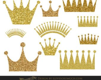 Gold glitter princess crown clipart clipart library download Crown Clip Art, gold crowns clipart, sparkly digital crown, princess ... clipart library download
