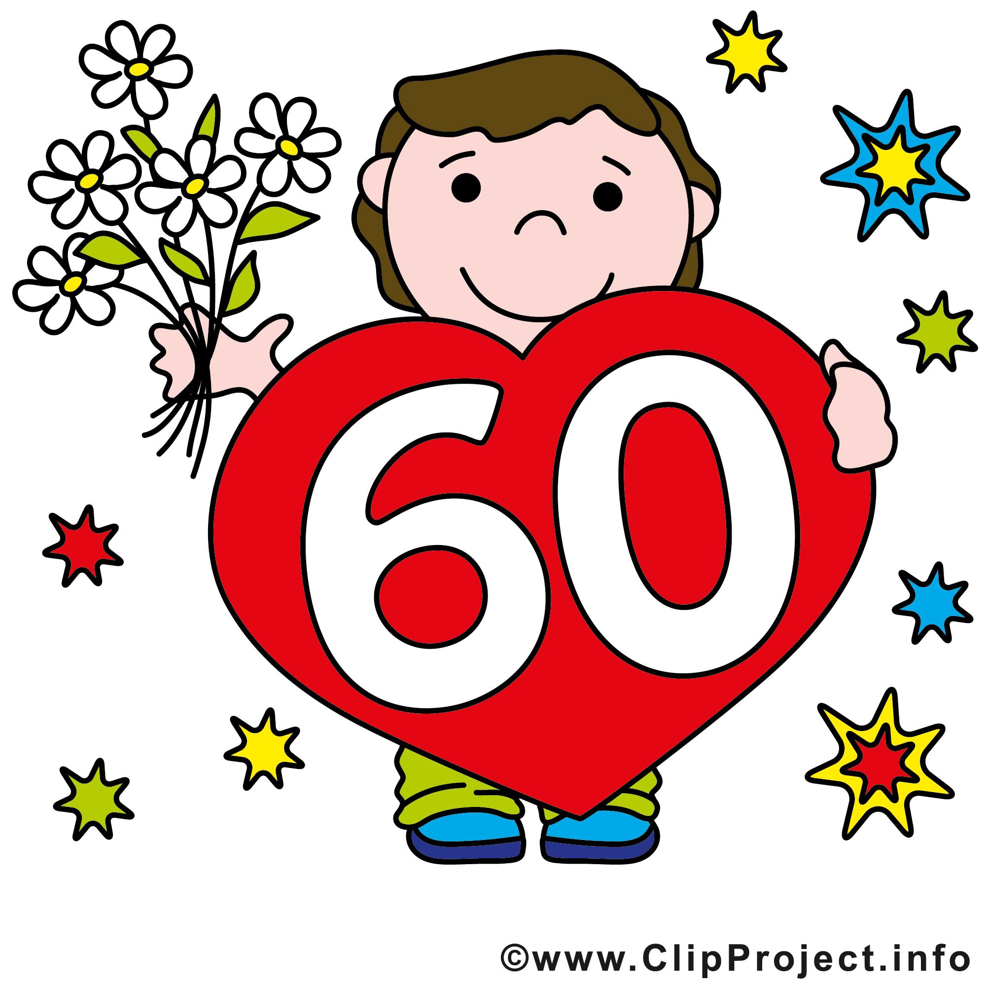 60 clipart clip art stock Anniversaire 60 ans clipart - ClipartFox clip art stock