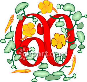 60 clipart svg black and white stock Number 60 clipart - ClipartFest svg black and white stock