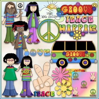 60 s girl clipart image transparent Hippie Clipart Worksheets & Teaching Resources | TpT image transparent
