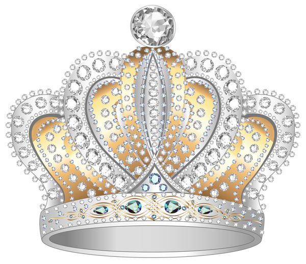 Crown and diamond clipart image library download Silver Gold Diamond Crown PNG Clipart Image | Gallery Yopriceville ... image library download