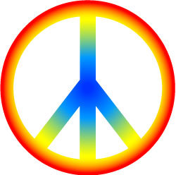 60s clipart.  s kid peace