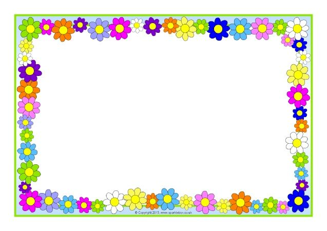 60s clipart frame banner transparent stock Flowers and Plants editable A4 page borders - SparkleBox | barn ... banner transparent stock
