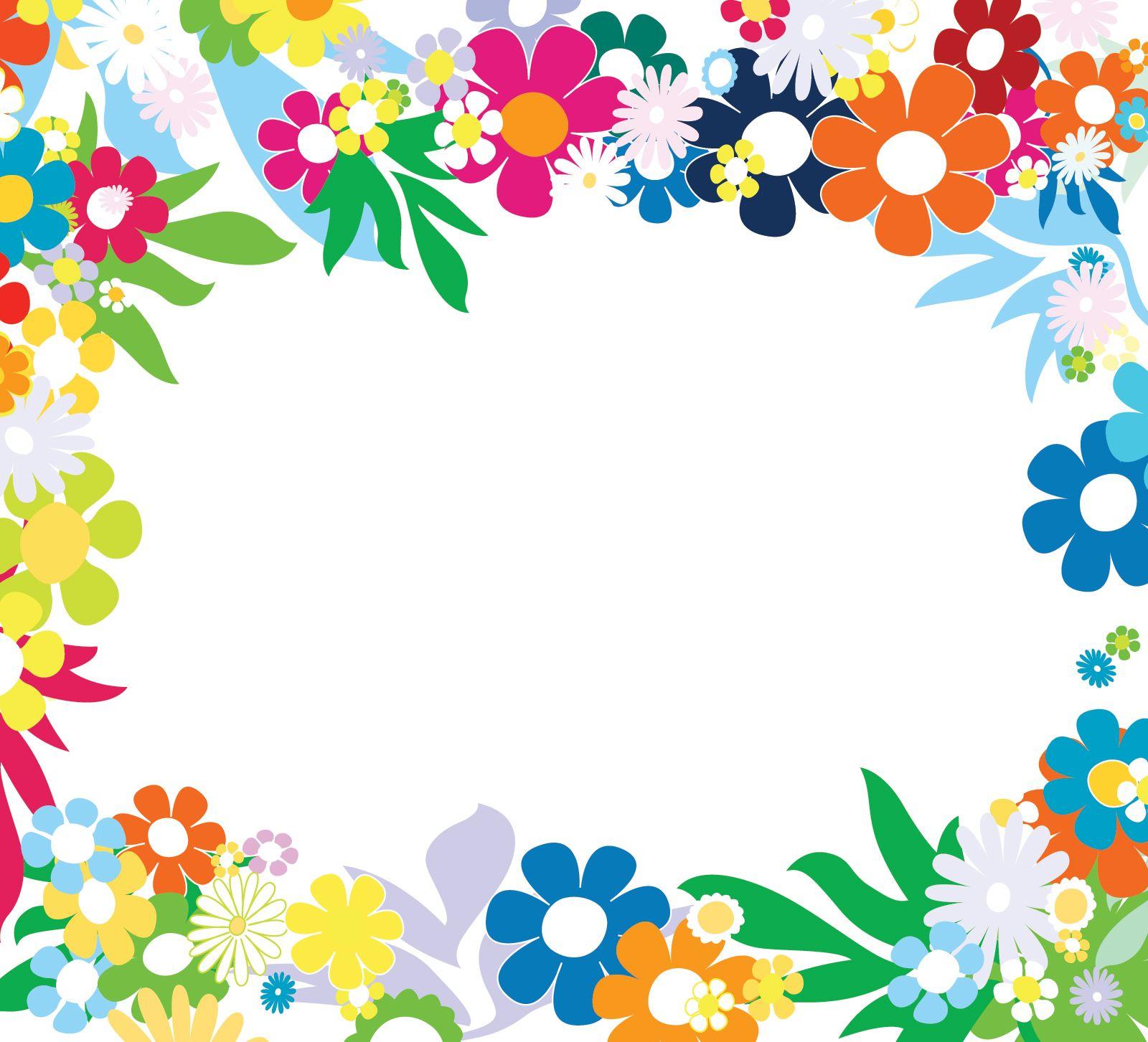 60s clipart frame png Floral Colorful Frames | Çerçeveler ve Clipart | Flower frame, Frame ... png