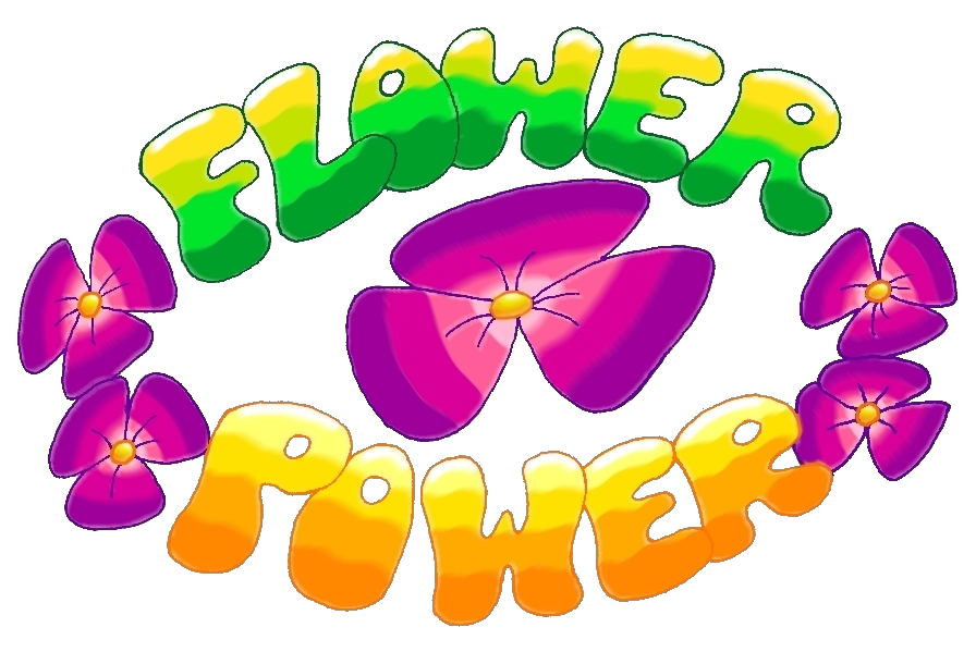60's flower power clipart png black and white library Flower Power Spring Art Jam by IrishBecky on DeviantArt png black and white library