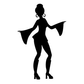 Disco dancer clipart clip free download Disco Dancer Silhouette 02 Stencil | Free Stencil Gallery - ClipArt ... clip free download