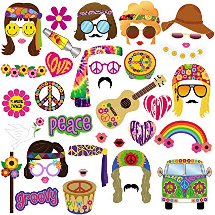 60s party people clipart clip art royalty free stock 60s Photo Booth Props, 45pcs BizoeRade 60s Party Photo Booth, 1960s Theme  Hippie Party Decorations, 60\'s Flower Power Photo Props for Groovy Party ... clip art royalty free stock