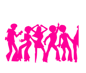 60s party people clipart clip stock Clipart christmas party people black and white - Clip Art Library clip stock