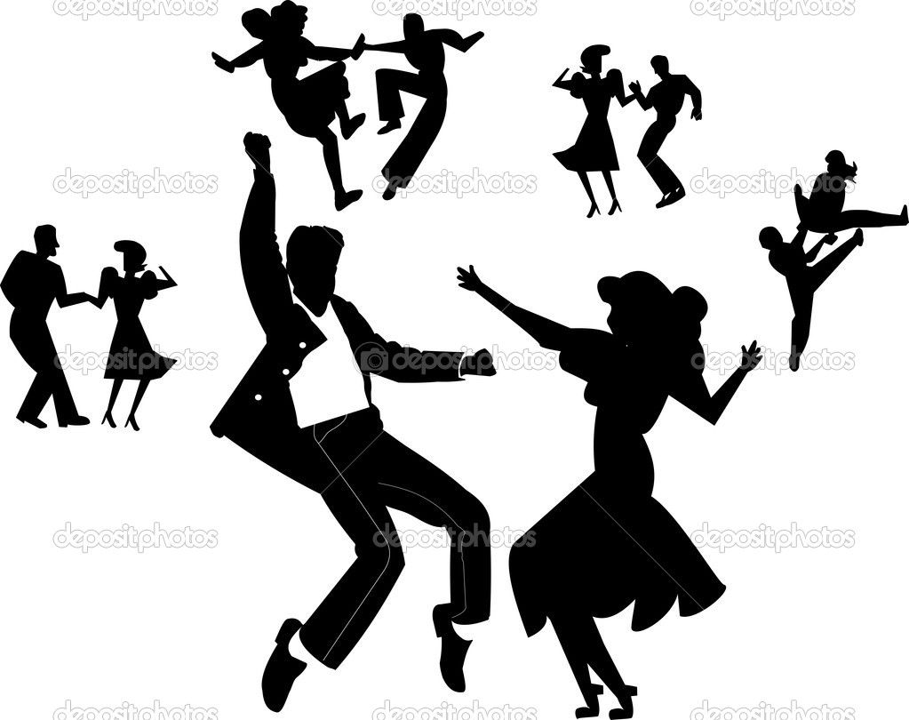 60s party people clipart black and white 1950s dancer silhouette - Yahoo Search Results Yahoo Image Search ... black and white